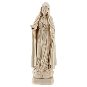 The Immaculate Heart of Mary in natural wood of Valgardena s1