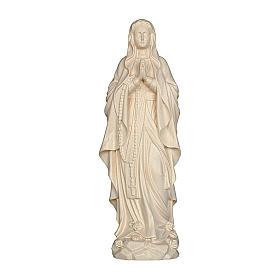 Imágenes de madera natural: Virgen de Lourdes madera Val Gardena natural