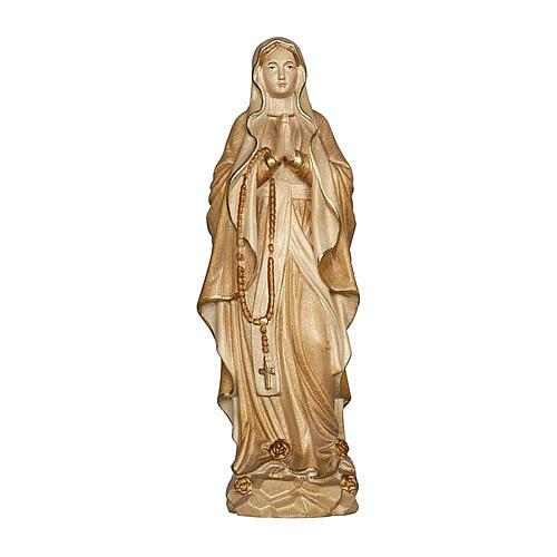 Madonna di Lourdes legno Valgardena brunito 3 colori 1