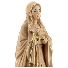 Nossa Senhora de Lourdes madeira Val Gardena brunida 3 tons