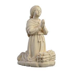 Statue in legno naturale: Bernadette Soubirous legno Valgardena naturale