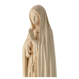 Statue of Our Lady of Fatima Capelinha in natural wood of Valgardena s2
