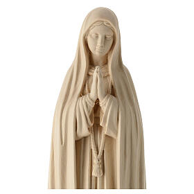 Statue of Our Lady of Fatima Capelinha in natural wood of Valgardena s4