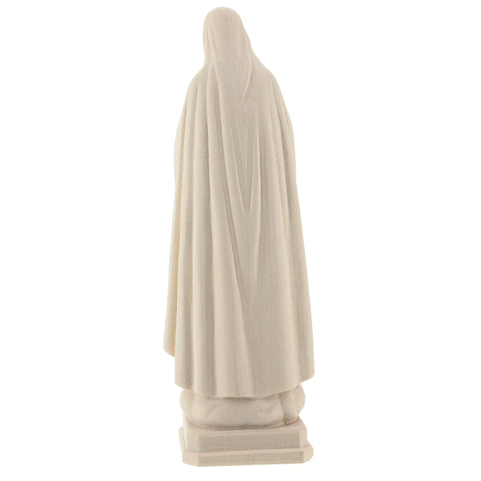 Virgen de Fátima 5. Aparición madera Val Gardena natural 4