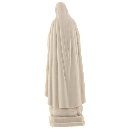 Virgen de Fátima 5. Aparición madera Val Gardena natural 5
