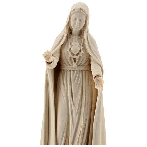 Madonna di Fatima 5. Apparizione legno Valgardena naturale 2