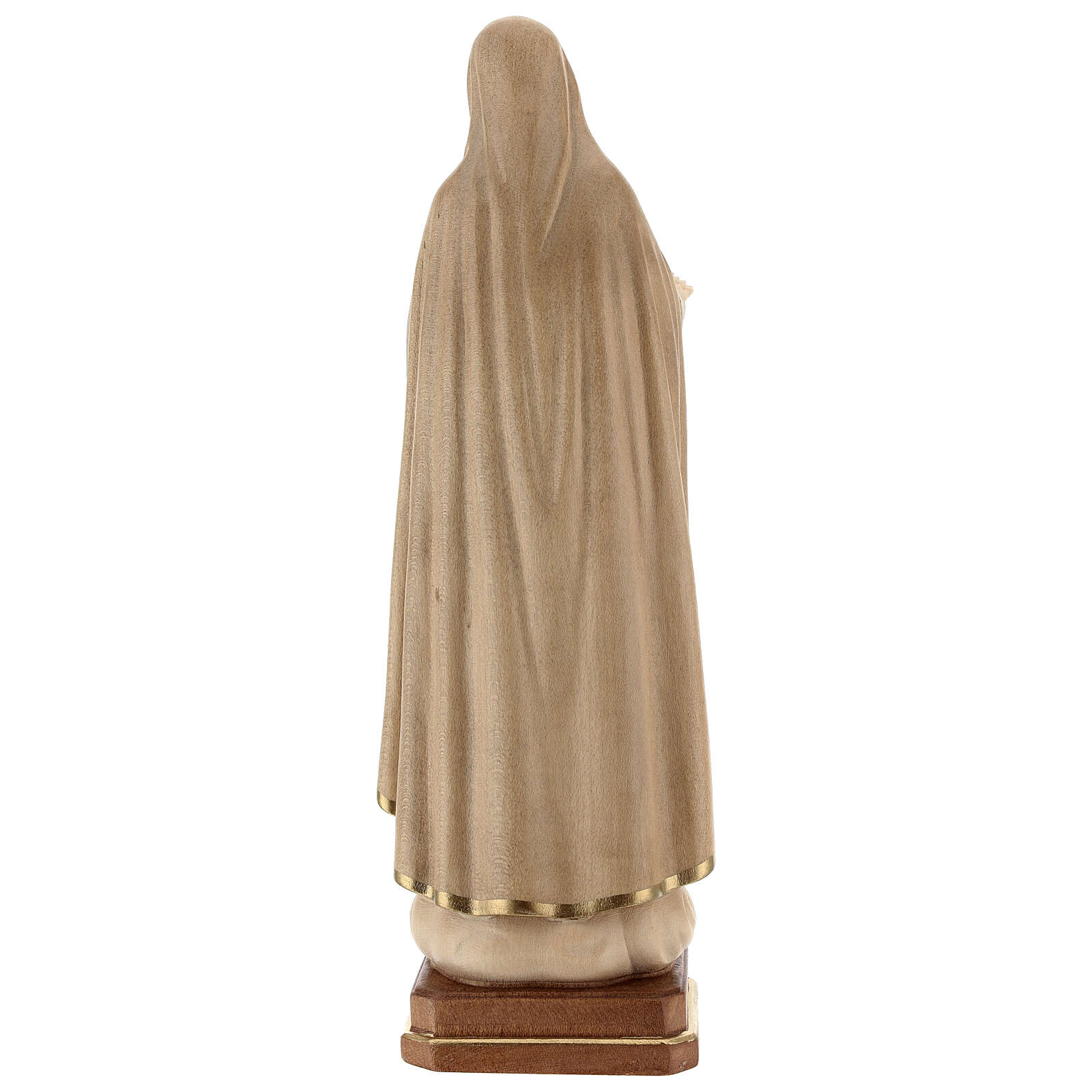 Our Lady of Fatima fifth Apparition in wood of Valgardena burnished in 3 colours 4
