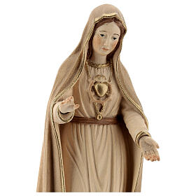 Our Lady of Fatima fifth Apparition in wood of Valgardena burnished in 3 colours s2