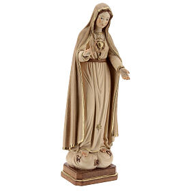 Our Lady of Fatima fifth Apparition in wood of Valgardena burnished in 3 colours s4