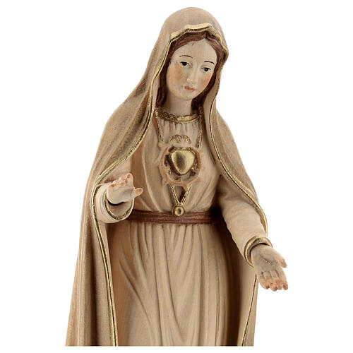 Our Lady of Fatima fifth Apparition in wood of Valgardena burnished in 3 colours 2
