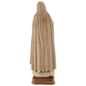 Notre-Dame de Fatima 5ème apparition bois Val Gardena bruni 3 tons s6