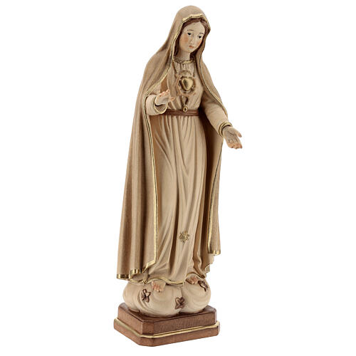 Notre-Dame de Fatima 5ème apparition bois Val Gardena bruni 3 tons 4