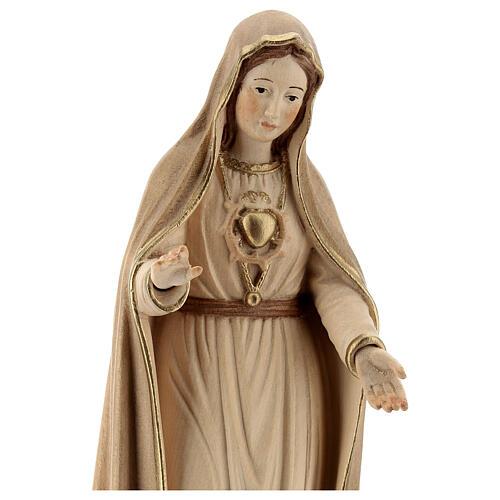 Madonna di Fatima 5. Apparizione legno Valgardena brunito 3 colori 2