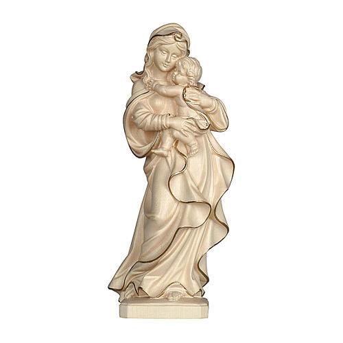 Madonna Alpbach 50 cm legno Valgardena cerato filo oro 1