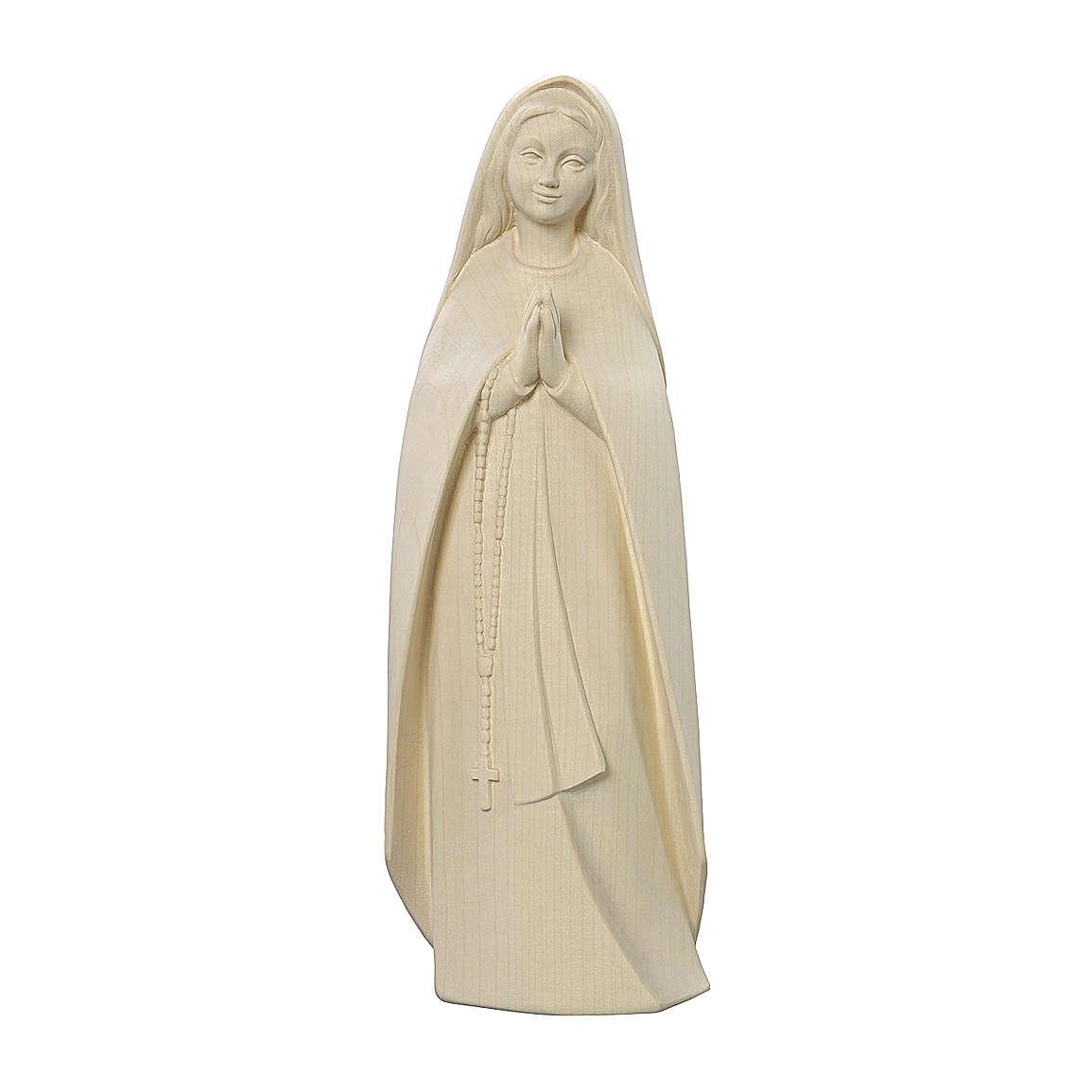 Madonna del pellegrino legno Valgardena naturale 4