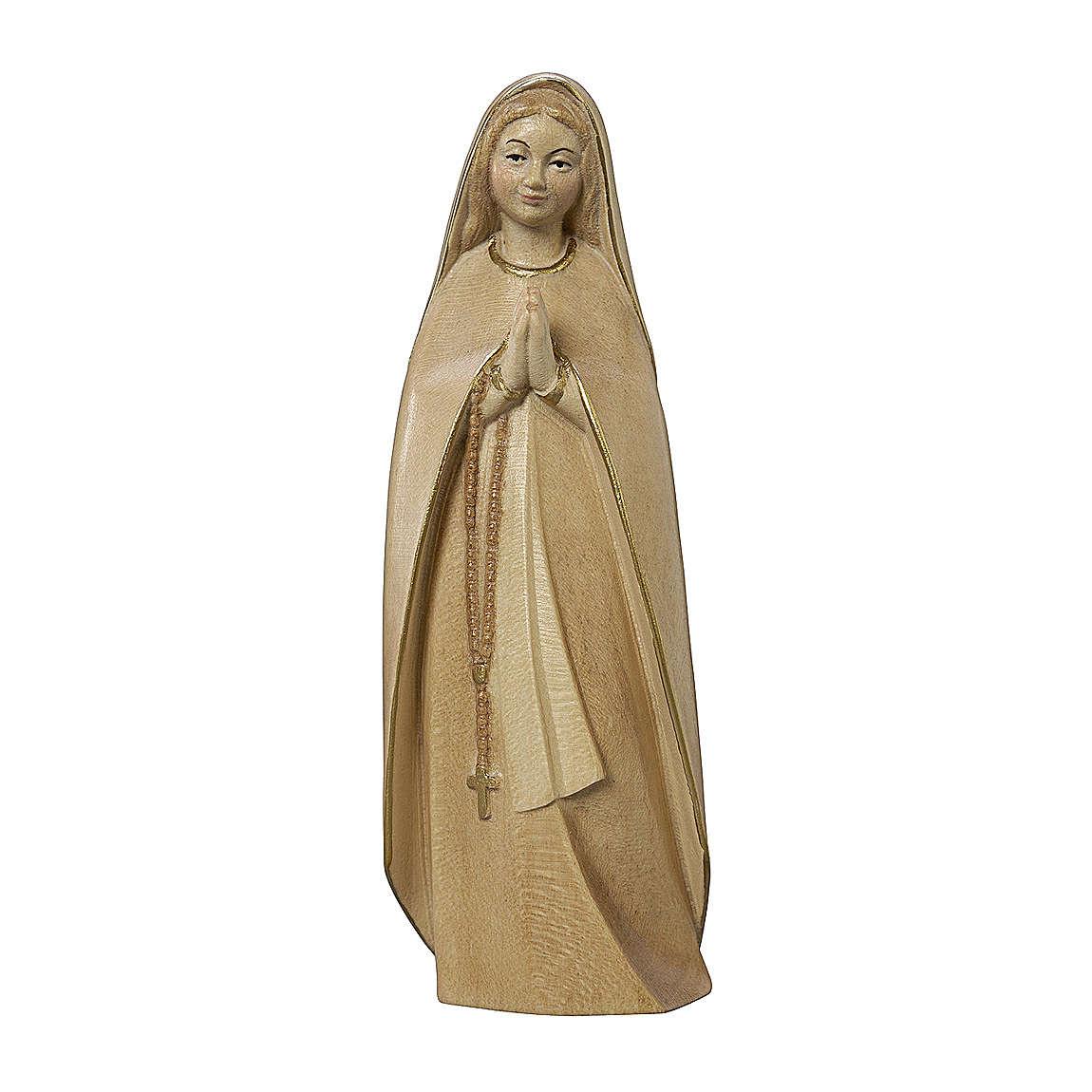 Madonna del pellegrino legno Valgardena brunito 3 colori 4