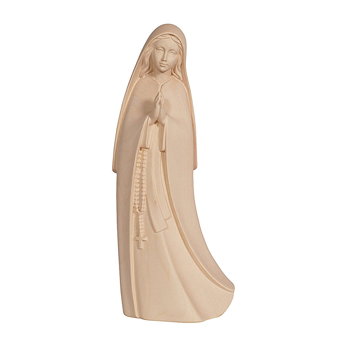 Madonna del Santuario legno Valgardena naturale 4