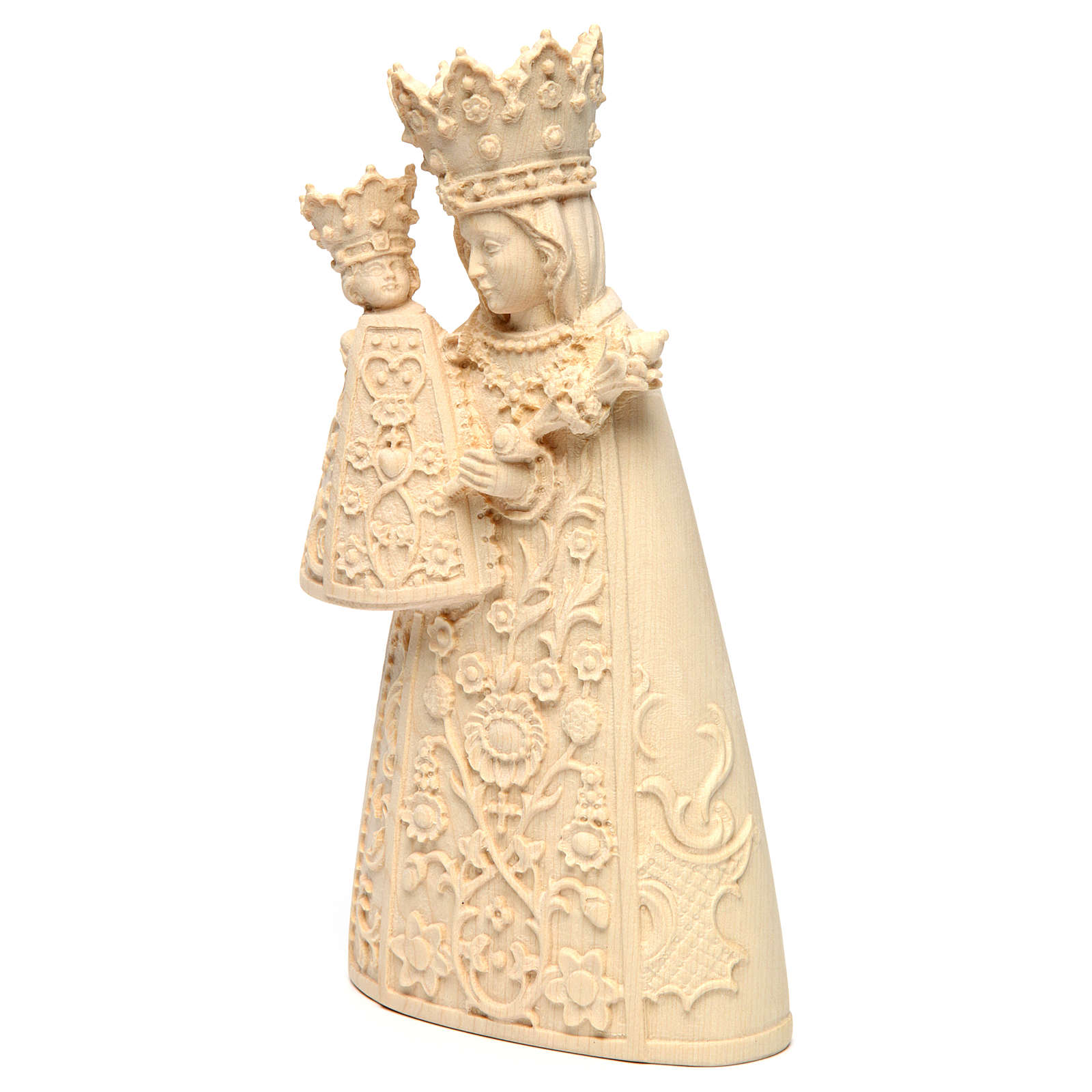 Madonna di Altötting legno Valgardena naturale 4