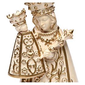 Madonna di Altötting legno Valgardena cerato filo oro s2