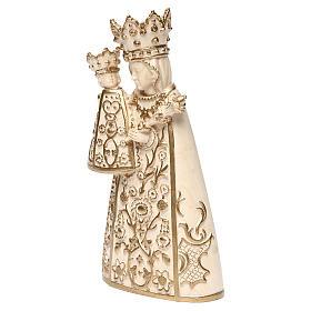 Madonna di Altötting legno Valgardena cerato filo oro s3