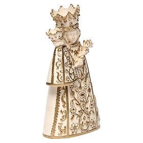 Madonna di Altötting legno Valgardena cerato filo oro s4