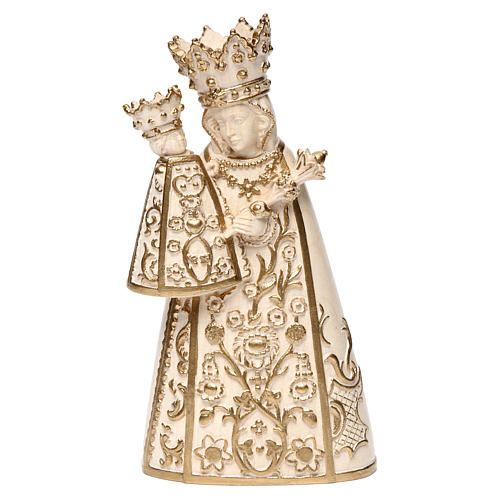 Madonna di Altötting legno Valgardena cerato filo oro 1