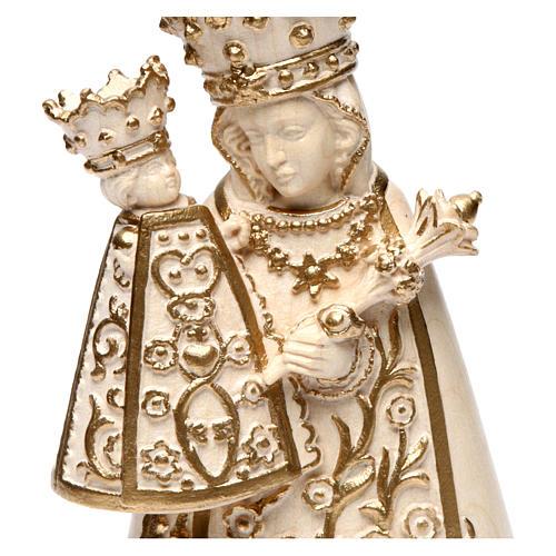 Madonna di Altötting legno Valgardena cerato filo oro 2