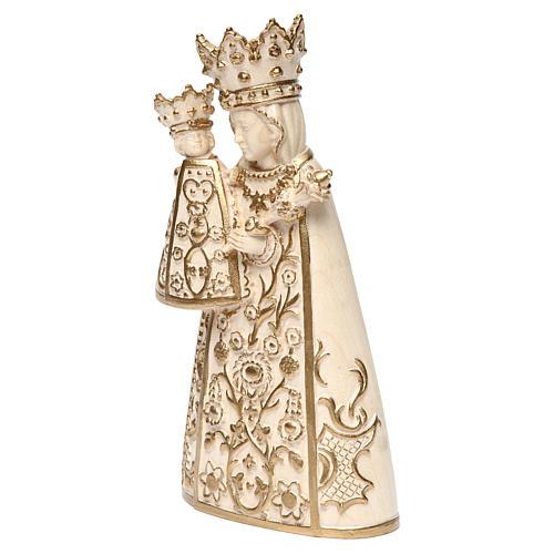 Madonna di Altötting legno Valgardena cerato filo oro 3