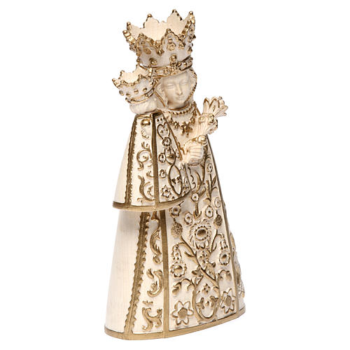 Madonna di Altötting legno Valgardena cerato filo oro 4