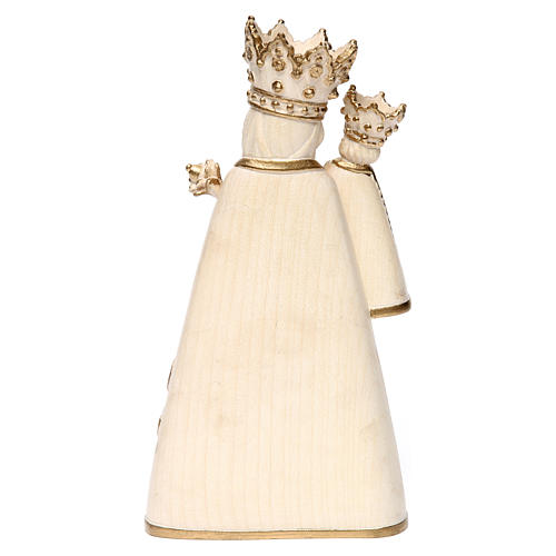 Madonna di Altötting legno Valgardena cerato filo oro 5