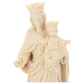 Our Lady with Baby Jesus and crown in natural wood of Valgardena s2