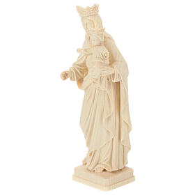 Our Lady with Baby Jesus and crown in natural wood of Valgardena s3