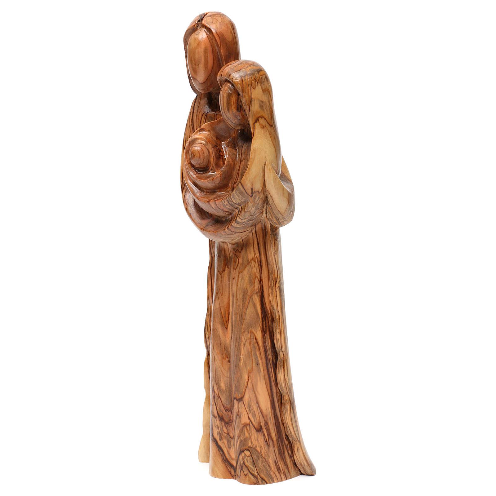 Statue Sainte Famille olivier de Bethléem 40 cm 4