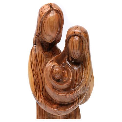 Statue Sainte Famille olivier de Bethléem 40 cm 2