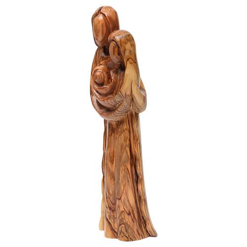 Statue Sainte Famille olivier de Bethléem 40 cm 3