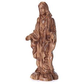 Statua Gesù in ulivo di Betlemme 24 cm s2