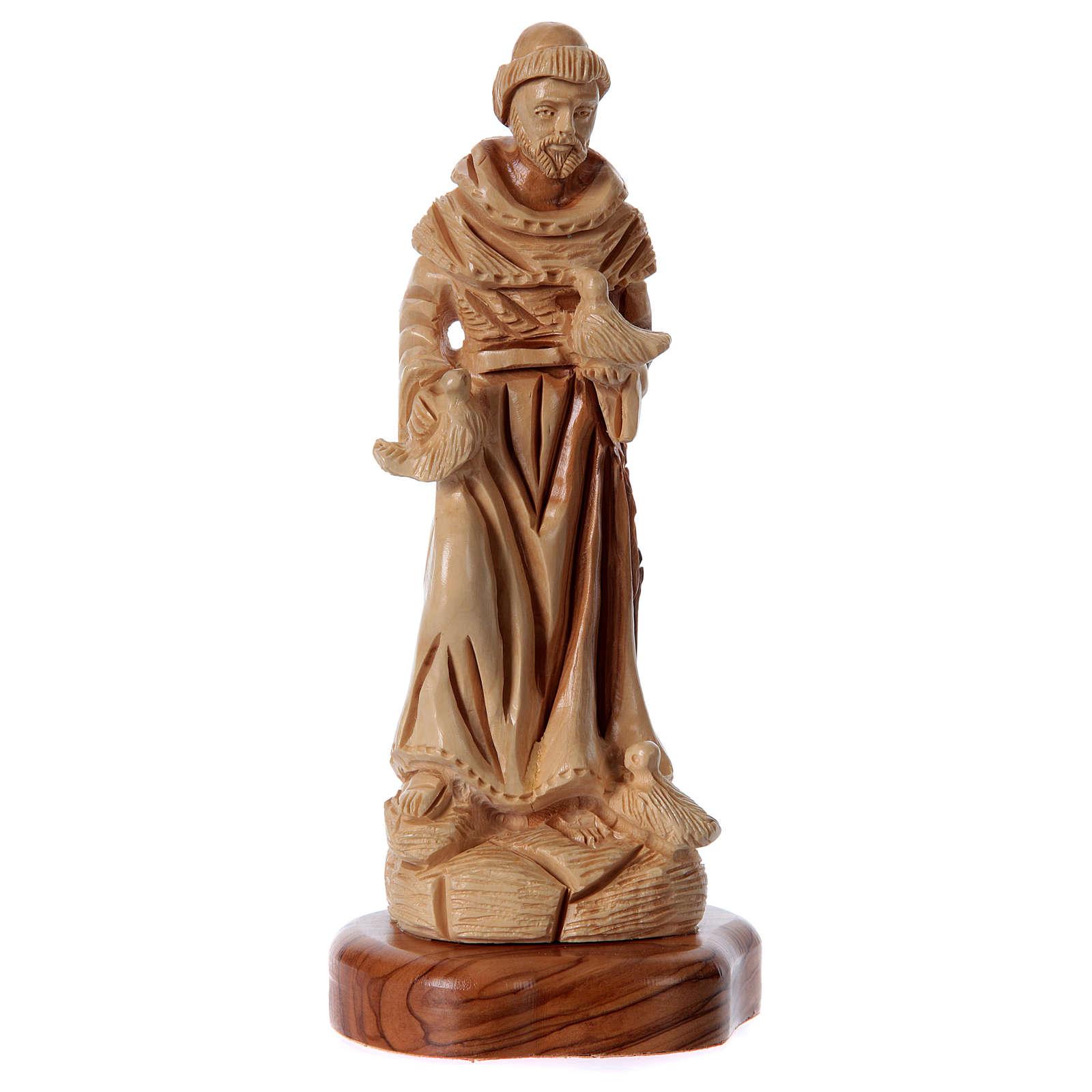 Estatua San Francisco de olivo de Belén 23 cm 4