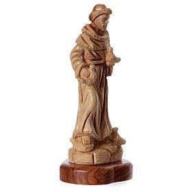 Estatua San Francisco de olivo de Belén 23 cm s3