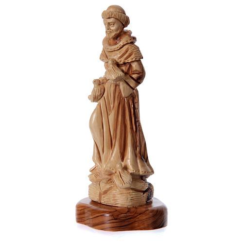 Estatua San Francisco de olivo de Belén 23 cm 2
