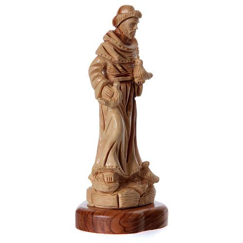 Estatua San Francisco de olivo de Belén 23 cm 3