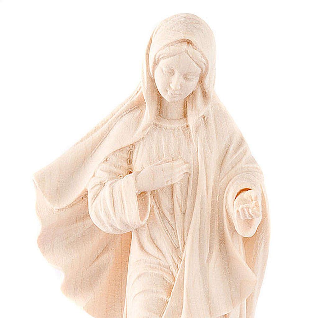 Madonna Medjugorje legno naturale 4