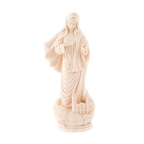 Nossa Senhora Medjugorje madeira natural 1