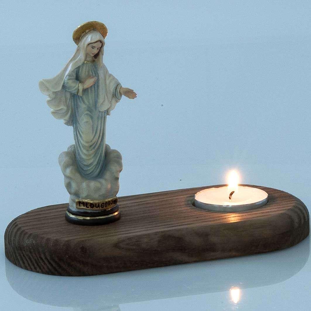 Vierge Medjugorje avec lampe votive 3