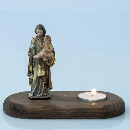 Saint Joseph with votive candle 2