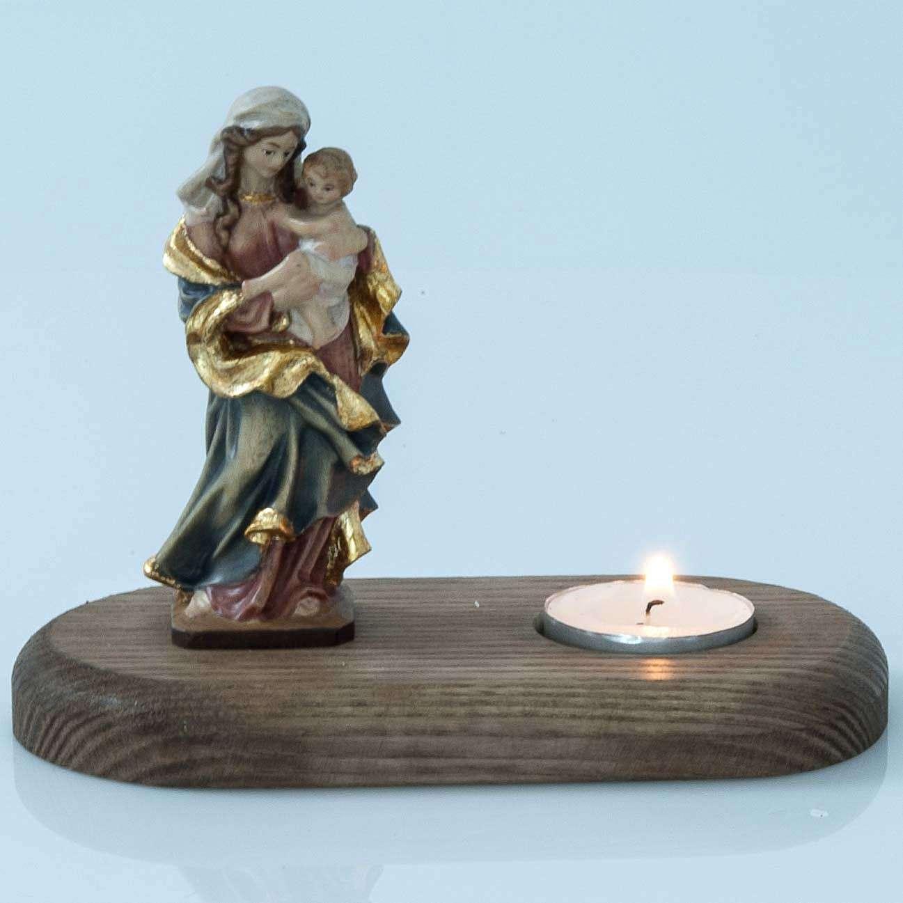 Vierge et enfant avec lampe votive 3