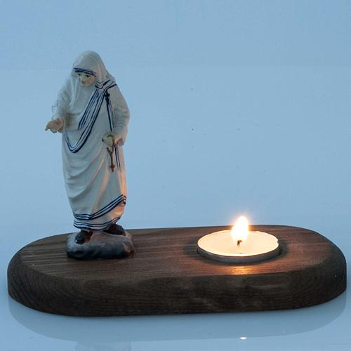 Mother Teresa with Votive Candle 2