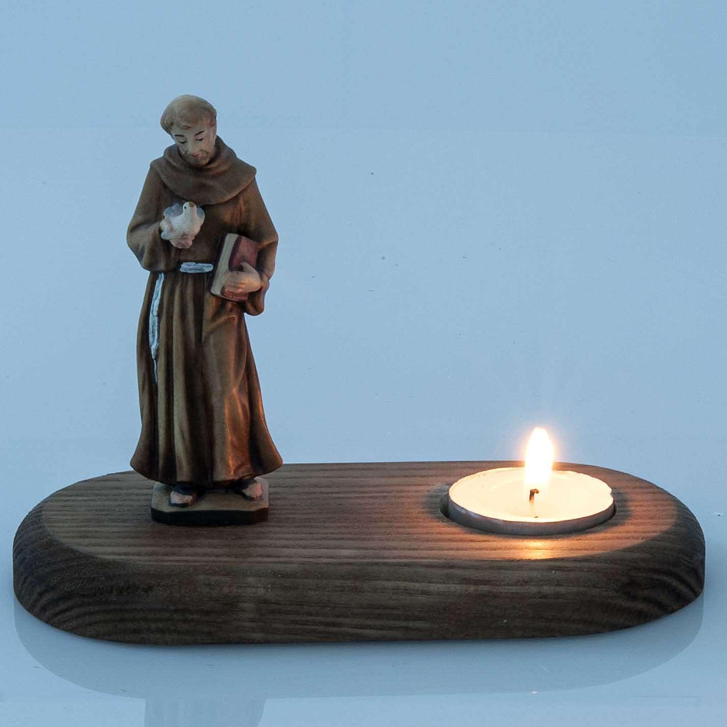 S.François d'Assisi avec lampe votive 3