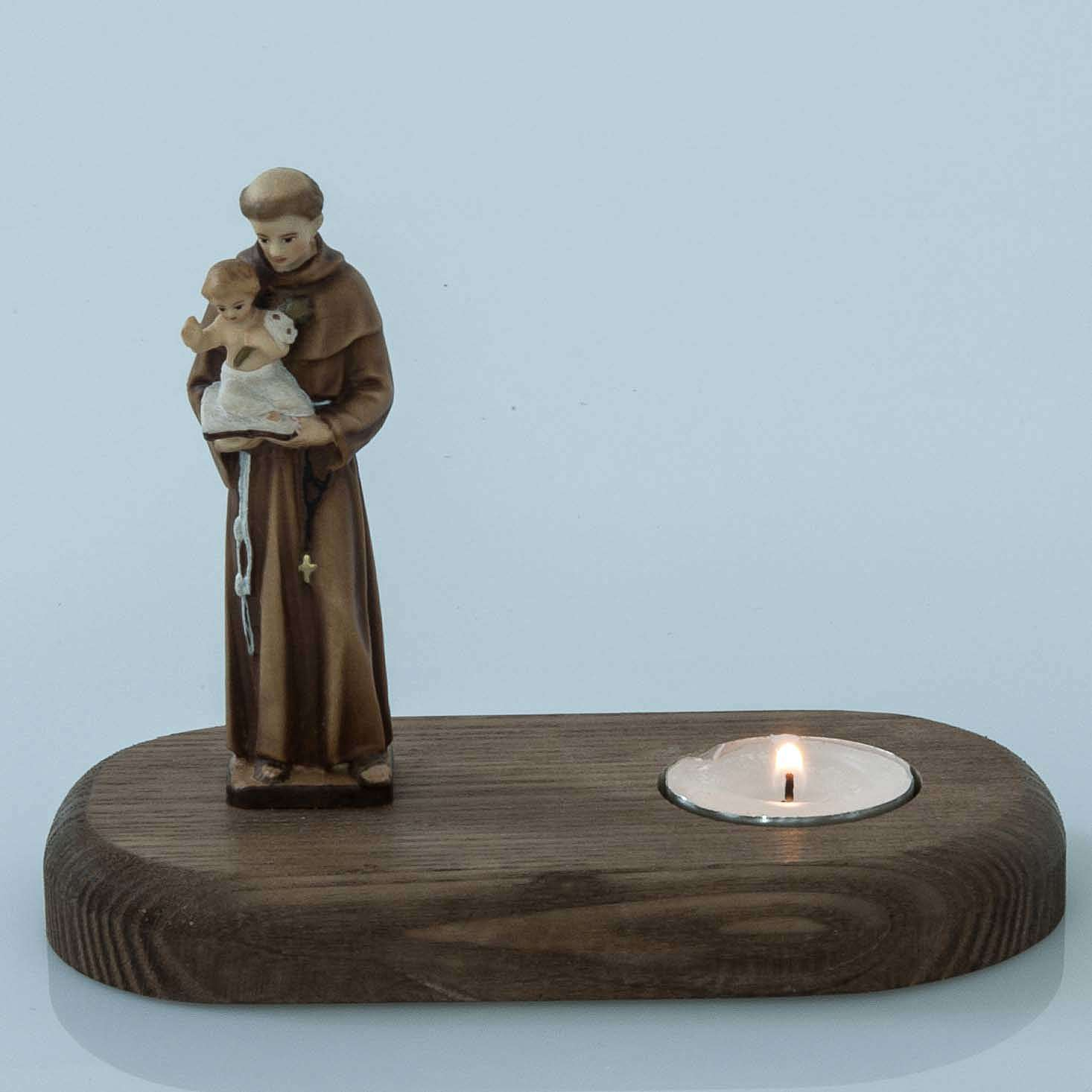 Saint Anthony of Padua with votive candle 3