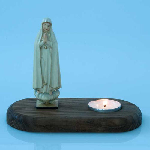 The Virgin of Fatima with votive candle 3