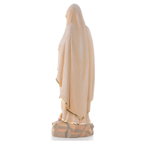 Our Lady of Lourdes, wooden painted statue 3
